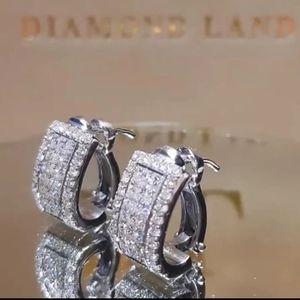 Jewelry - 🎀925 Crystal Hoop Earrings